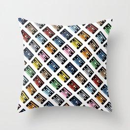 Rainbow Black 45 on White Throw Pillow
