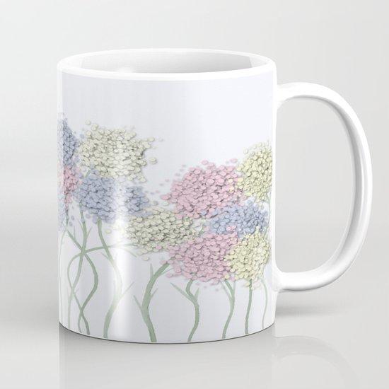 Pastel Cotton Ball Flower Scene Mug