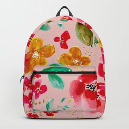 Poppy in Pink Backpack