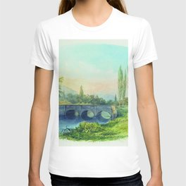 Sevastopol Aqueduct In The Gully Ushakovskaya 1850 By Lev Lagorio | Reproduction | Russian Romantici T-shirt