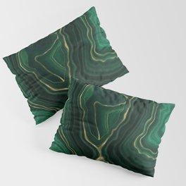 Green Malachite Emerald Marble Texture Pillow Sham