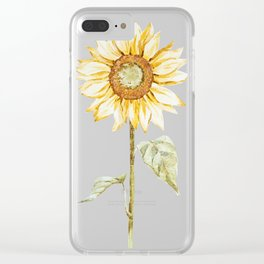 Sunflower 01 Clear iPhone Case