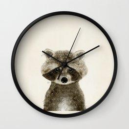 little raccoon Wall Clock