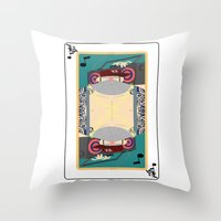 rap Throw Pillows featuring rap king by Red Monkey