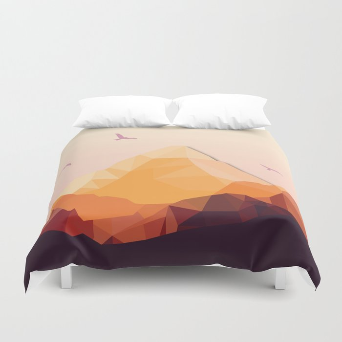 Night Mountains No. 25 Duvet Cover