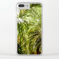 Tropical Palms Clear iPhone Case