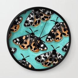 Tiger Moths Wall Clock