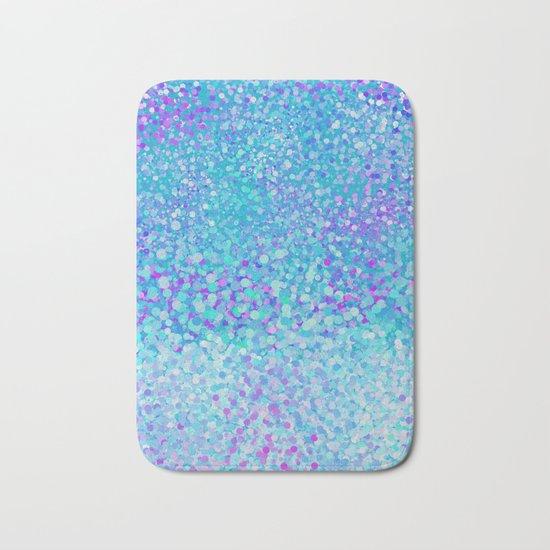 Turquoise fiesta dots Bath Mat