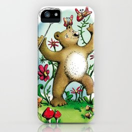 Bear and butterfly iPhone Case