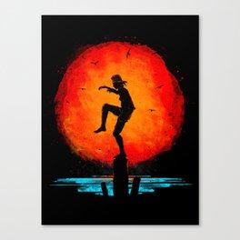 Minimalist Karate Kid Tribute Painting Canvas Print