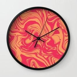 Liquid marble texture design 031 Wall Clock