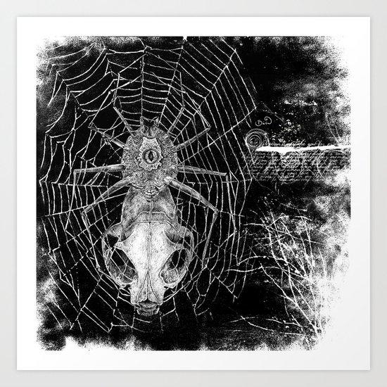 spider-cat Art Print