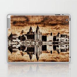 Liverpool Water front Skyline (Digital Art) Laptop & iPad Skin