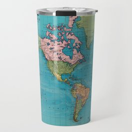 Vintage Map of The World (1897) Travel Mug