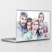 selfie Laptop & iPad Skins featuring Selfie by LePomiere