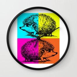 Hedgehog colourful Wall Clock