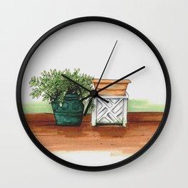2 Pots Wall Clock