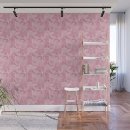 Pantone Sea Pink 15-1912 Abstract Geometrical Triangle Patterns 2 Wall Mural