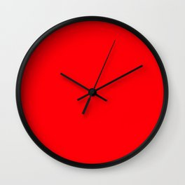 Christmas Red Solid Cheery Red Wall Clock