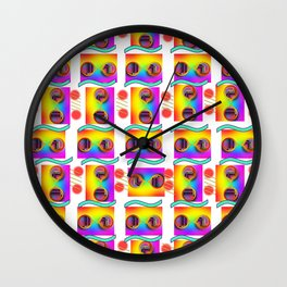 Round Reflected Sunglasses Wall Clock