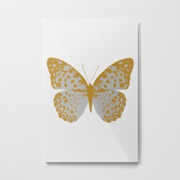 Silver Butterfly Metal Print