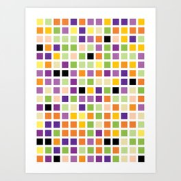 City Blocks - Eggplant #490 Art Print