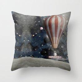 a space adventure Throw Pillow
