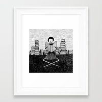 bookworm Framed Art Prints featuring Bookworm by kate gabrielle