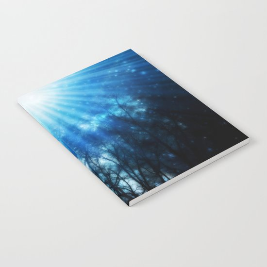 There Is Hope In the Light : Black Trees Blue Space Notebook
