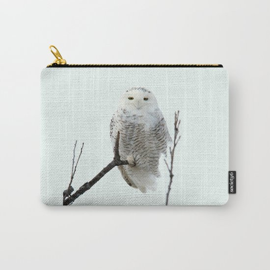 Snowy in the Wind (square) Carry-All Pouch