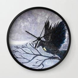 Keyhole Raven Wall Clock
