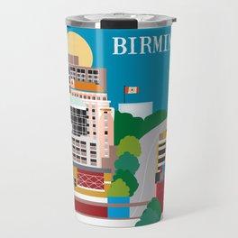 Birmingham, Alabama - Skyline Illustration by Loose Petals Travel Mug
