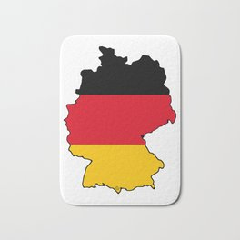 Germany Map with German Flag Bath Mat