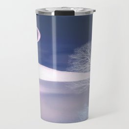 Moon night on the lake Travel Mug