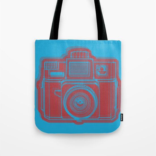 I Still Shoot Film Holga Logo - Blue & Red Tote Bag