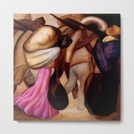 Classical Masterpiece The Soldaderas (Las soldaderas) by José Clemente Orozco Metal Print
