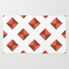 Chocolate Brown + Coral: Pattern No. 16 Rug
