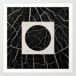 The Search - Black and white wooden pattern effect artwork Art Print