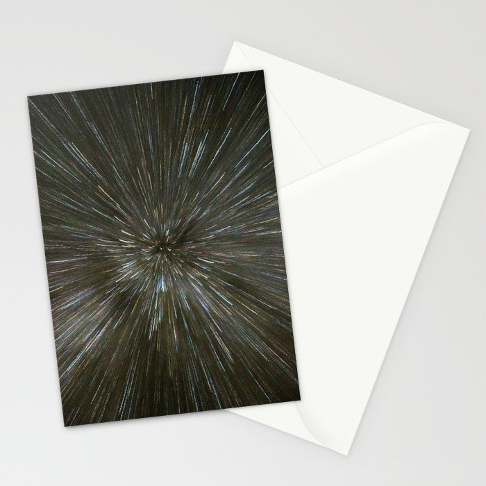zooming towards stars Stationery Cards