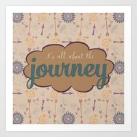journey Art Prints featuring Journey by Skuishy