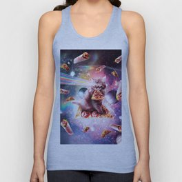 Outer Space Pizza Cat - Rainbow Laser, Taco, Burrito Unisex Tank Top