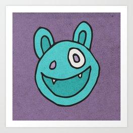 Slightly Amused Monsters, VII Aquamarine Art Print