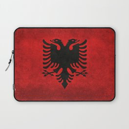 National flag of Albania with Vintage textures Laptop Sleeve