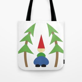 Gnome with trees Tote Bag