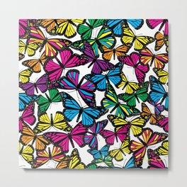 Vibrant Butterflies Metal Print