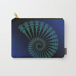 Spiral Tribal Turtle Shell Carry-All Pouch