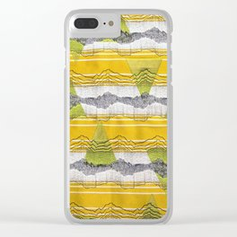 Mountain Vibrations Clear iPhone Case