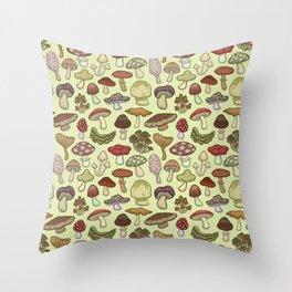 Mushroom Circle Throw Pillow