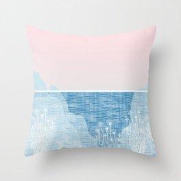 Pastel Sea Landscape Design Throw Pillow