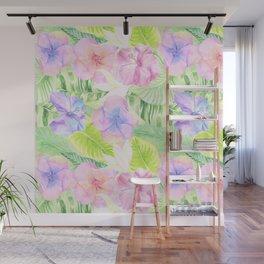 My tropical Pastel Hibiscus Garden Wall Mural
